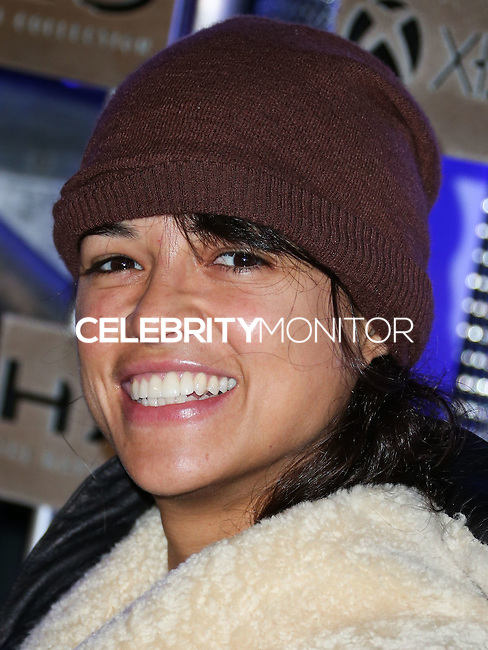 HOLLYWOOD, LOS ANGELES, CA, USA - NOVEMBER 10: Michelle Rodriguez arrives at the HaloFest - Halo: The Master Chief Collection Launch Event held at Avalon on November 10, 2014 in Hollywood, Los Angeles, California, United States. (Photo by Xavier Collin/Celebrity Monitor)