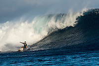 Namotu Island, Fiji (Saturday, June 6, 2015) Adriano de Souza (BRA) . Cloudbreak was a good size on dawn with bumby faces due to the last few days of wind. It clened up quickly with a number of the Top 34 surfers getting in some practice time. The high tide slowed things down mid moring.<br />  Photo: joliphotos.com