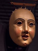 geschnitzte Maske  im Haus der Fastnacht,  immaterrielles UNESCO Weltkulturerbe Imster Fastnacht, Imst, Tirol, &Ouml;sterreich, Europa<br /> carved mask, house of Fastancht, Imst, Tyrol, Austria, Europe, UNESCO  intangible cultural heritage