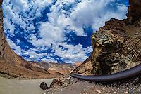 Indus River along National Highway 1 (Srinagar-Leh Highway), Ladakh, Jammu and Kashmir State, India.