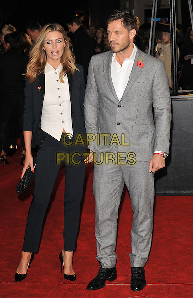 Abbey Clancy &amp; Paul Sculfor attend the &quot;The Hunger Games: Mockingjay Part 2&quot; UK film premiere, Odeon Leicester Square, Leicester Square, London, England, UK, on Thursday 05 November 2015. <br /> CAP/CAN<br /> &copy;Can Nguyen/Capital Pictures