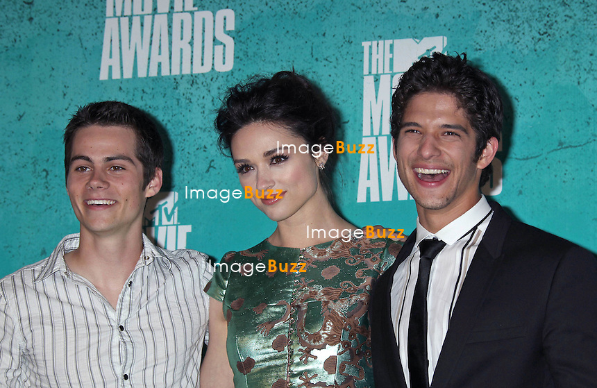 Dylan O'Brien, Crystal Reed, Tyler Posey, The 2012 MTV Movie Awards held at the Gibson Amphitheatre (Universal City, CA)..Los Angeles, June 3, 2012.