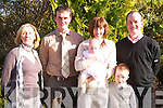 Baby Laura Bradley, pictured with her parents John and Helena, Godparents Jimmy Bradley and Breda Fell, family and friends from Scartaglin and Firies at her christening reception in Ballygarry House Hotel on Sunday afternoon.   Copyright Kerry's Eye 2008