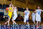 Ivan Bogdanovic Killorglin drives to the basket against LYIT Donegal in Killorglin on Saturday night