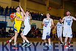 Ivan Bogdanovic Killorglin drives to the basket against LYIT Donegal in Killorglin on Saturday night