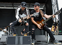 BALTIMORE, MD - MAY 20: The band LoCash performs in the infield on Preakness Stakes Day at Pimlico Race Course on May 20, 2017 in Baltimore, Maryland.(Photo by Jesse Caris/Eclipse Sportswire/Getty Images)