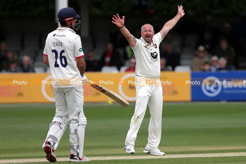 Darren Stevens of Kent claims the wicket of Nick Browne during Essex CCC vs Kent CCC, Specsavers County Championship Division 1 Cricket at The Cloudfm County Ground on 29th May 2019