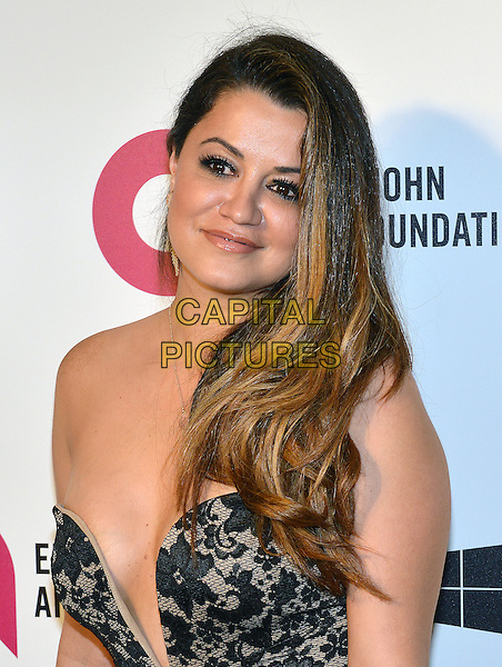 02 March 2014 - West Hollywood, California - Leila Gharache. 22nd Annual Elton John Academy Awards Viewing Party held at West Hollywood Park. <br /> CAP/ADM/CC<br /> &copy;CC/AdMedia/Capital Pictures