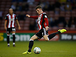 John Lundstram of Sheffield Utd shoots during the Carabao Cup, second round match at Bramall Lane, Sheffield. Picture date 22nd August 2017. Picture credit should read: Simon Bellis/Sportimage
