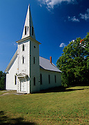 Parsonsfield Union church in Parsonsfield, Maine USA which is part of scenic New England