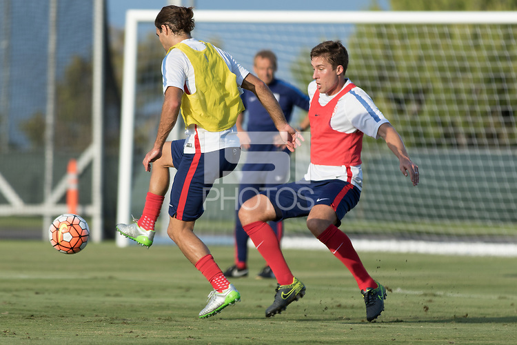 Irvine, Calif. - October 5, 2015: The USMNT train in preparation for their 2015 CONCACAF Cup match against Mexico at UCI.