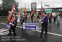 Govan District returning from the County Grand Orange Lodge of Glasgow Parade 2012 which took place in Glasgow on 7.7.12..