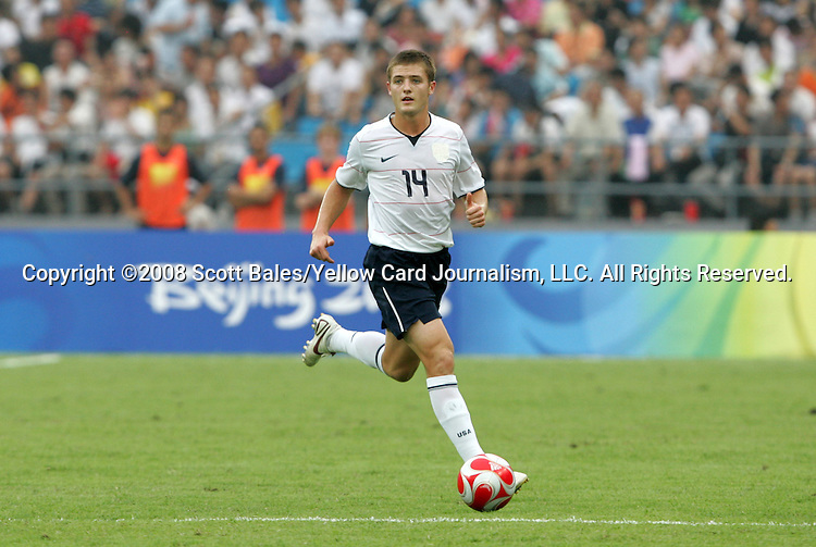 13 August 2008: Robbie Rogers (USA).  The men's Olympic team of Nigeria defeated the men's Olympic soccer team of the United States 2-1 at Beijing Workers' Stadium in Beijing, China in a Group B round-robin match in the Men's Olympic Football competition.