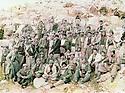 Iraq 1985 <br />   After the battle of Daban, a group of peshmergas posing for the photo in Sergalou  <br /> Irak 1985 <br /> Apres la bataille de Daban, un groupe de peshmergas pose pour la photo a Sergalou