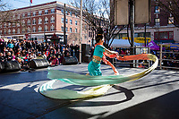 Tanya Woo, Chinese Cultural Dance Performer, Chinese New Year, Chinatown, Seattle, WA, USA.
