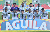 IBAGUÉ - COLOMBIA, 10-02-2018:Formación del Deportivo Cali contra el Atlético Huila   durante partido por la fecha 2 de la Liga Águila I 2018 jugado en el estadio Manuel Murillo Toro de la ciudad de Ibagué. / Team of Deportivo Cali  agaisnt Atletico Huila during match for the date 2 of the Aguila League I 2018 played at Manuel Murillo Toro in Ibague city. VizzorImage / Juan Carlos Escobar / Contribuidor