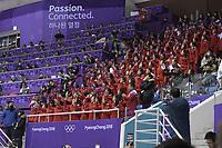 OLYMPIC GAMES: PYEONGCHANG: 10-02-2018, Gangneung Ice Arena, Short Track, Short Track fans from North Korea, ©photo Martin de Jong