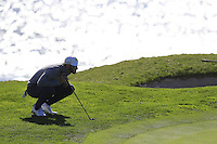 Dustin Johnson (USA) at the 7th green at Pebble Beach Golf Links during Saturday's Round 3 of the 2017 AT&amp;T Pebble Beach Pro-Am held over 3 courses, Pebble Beach, Spyglass Hill and Monterey Penninsula Country Club, Monterey, California, USA. 11th February 2017.<br /> Picture: Eoin Clarke | Golffile<br /> <br /> <br /> All photos usage must carry mandatory copyright credit (&copy; Golffile | Eoin Clarke)