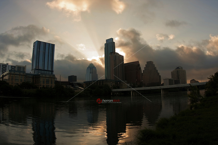 Austin Skyline at Early Morning Sunrise