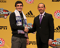 Bobby Warshaw with commissioner Don Garber at the 2011 MLS Superdraft, in Baltimore, Maryland on January 13, 2010.