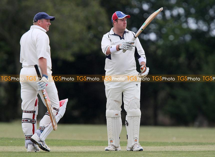 Alex Sullivan of Rainham (R) acknowledges 50 runs for his team - Rainham CC vs Barking CC 2nd XI - Lords International Essex Cricket League - 01/08/09 - MANDATORY CREDIT: Gavin Ellis/TGSPHOTO - Self billing applies where appropriate - Tel: 0845 094 6026