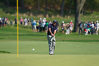 Phil Mickelson (USA) playing on to the 16th green during the 2nd round at the PGA Championship 2019, Beth Page Black, New York, USA. 17/05/2019.<br /> Picture Fran Caffrey / Golffile.ie<br /> <br /> All photo usage must carry mandatory copyright credit (&copy; Golffile | Fran Caffrey)