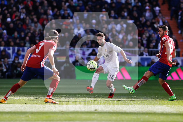Real Madrid´s Daniel Carvajal during 2015/16 La Liga match between Real Madrid and Atletico de Madrid at Santiago Bernabeu stadium in Madrid, Spain. February 27, 2016. (ALTERPHOTOS/Victor Blanco)
