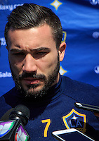 Carson, CA - February 24, 2017: Newly acquired LA Galaxy Designated Player French footballer Romain Alessandrini is introduced.