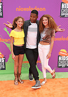 LOS ANGELES, CA July 13- Michael Strahan, Sophia Strahan, Isabella Strahan, At Nickelodeon Kids' Choice Sports Awards 2017 at The Pauley Pavilion, California on July 13, 2017. Credit: Faye Sadou/MediaPunch