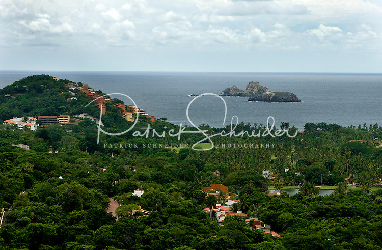 Overhead photo looking down on and across the resort community of Ixtapa, Mexico. (taken August 2007). Photo by Patrick Schneider Photo.com