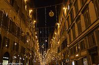 Italy, Florence Christmas lights