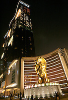 A night view of the 'MGM Grand Macau' casino.