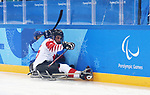 Pyeongchang, Korea, 11/3/2018-James Gemmell of Canada plays Italy in hockey during the 2018 Paralympic Games in PyeongChang. Photo Scott Grant/Canadian Paralympic Committee.