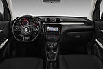 Stock photo of straight dashboard view of 2017 Suzuki Swift GL+ 5 Door Hatchback