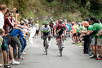 Wout Poels (NED/Ineos) up the brutal (last climb) Alto de Arraiz (up to 25% gradients!), 7km from the finish <br /> <br /> Stage 12: Circuito de Navarra to Bilbao (171km)<br /> La Vuelta 2019<br /> <br /> ©kramon