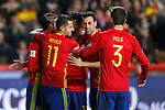Spain's Sergio Ramos, Diego Costa, Vitolo, Sergio Busquets and Gerard Pique celebrate goal during FIFA World Cup 2018 Qualifying Round match. March 24,2017.(ALTERPHOTOS/Acero)