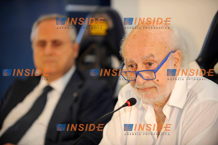 09 07 2016 Roma<br /> Conferenza stampa Lazio su dimissioni Marcelo Bielsa<br /> nella foto Avv. Gian Michele Gentile e Claudio Lotito<br /> Foto Marco Rosi/Fotonotizia/Insidefoto