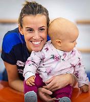Tania Cagnotto con la figlia Maya <br /> Bolzano 5-12-2018 <br /> Tania Cagnotto riprende gli allenamenti dopo il ritiro del 2017 <br /> Photo Pasquale Mesiano/ Deepbluemedia /Insidefoto