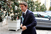 FRANCOIS BAROIN Ministro dell'Economia delle finanze e dell'Industria..02/11/2011 Parigi..Incontro tra il Primo Ministro Francese e i banchieri francesi a l'Hotel de Matignon..Foto Gerard Roussel / Panoramic / Insidefoto..................