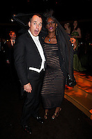 David Furnish and Grace Jones at Elton John's White Tie and Tiara Ball