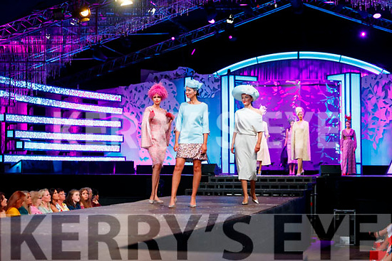 Models at the Rose of Tralee fashion show at the dome on Sunday night.