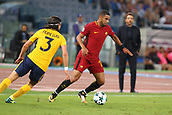 12th September 2017, Stadio Olimpic, Rome, Italy; UEFA Champions League between AS Roma versus Club Atletico de Madrid  Bruno Peres cuts inside the cover of Filipe Luis ; the game ended on a 0-0 draw
