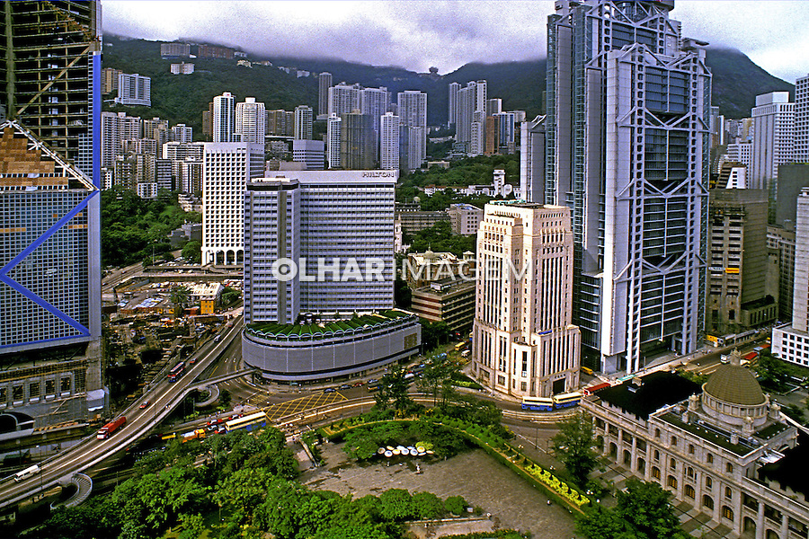 Cidade de Hong Kong. China. 1988. Foto de Daniel Augusto Jr.