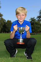 Isaac Oliver (Ballinasloe) winner of the U12's Final during the Connacht U12, U14, U16, U18 Close Finals 2019 in Mountbellew Golf Club, Mountbellew, Co. Galway on Monday 12th August 2019.<br /> <br /> Picture:  Thos Caffrey / www.golffile.ie<br /> <br /> All photos usage must carry mandatory copyright credit (© Golffile | Thos Caffrey)