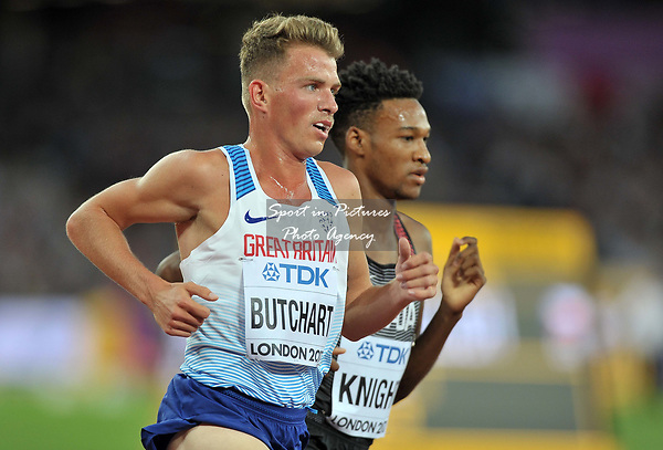 Andrew BUTCHART (GBR) in the mens 5000m final. IAAF world athletics championships. London Olympic stadium. Queen Elizabeth Olympic park. Stratford. London. UK. 12/08/2017. ~ MANDATORY CREDIT Garry Bowden/SIPPA - NO UNAUTHORISED USE - +44 7837 394578
