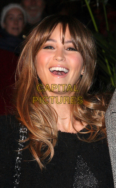 RACHEL STEVENS .Attending the Gala VIP Opening Night of Cirque du Soleil's 'Varekai' at the Royal Albert Hall, London, England, UK, .January 5th 2010..arrivals portrait headshot fringe black smiling mouth open funny .CAP/ROS.©Steve Ross/Capital Pictures.