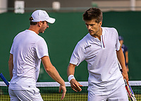 London, England, 3 July, 2019, Tennis,  Wimbledon, Men's doubles Sander Arends (NED) and Matwe Middelkoop (NED) (L)<br /> Photo: Henk Koster/tennisimages.com