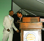 Billy Dee Williams being presented the Lifetime Achievement Award at the Gala Awards Ceremony of the 2008 Hoboken International Film Festival on June 5, 2008 at Pier A Park, Hoboken, New Jersey.  (Photo by Sue Coflin/Max Photos)