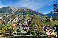 Schweiz, Graubuenden, Klosters: Blick auf Klosters | Switzerland, Graubuenden, Klosters: view at Klosters