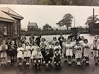 """PLEASE BYLINE Hansons Auctioneers Ltd/Athena Pictures<br /> Pictured: Steve Rose aged 8 (FRONT FAR LEFT)<br /> Re: One of the first mass-produced Christmas trees will be sold at auction after owned by the same family for 80 years.<br /> The parents of Steve Rose, 74, used to decorate the vintage 1937 tree which they bought from Woolworths, every year in their home in Markham, Caerphilly and kept on with the tradition after they died.<br /> But Mr Rose feels it is time to say goodbye and give someone else the chance to create a simple, vintage Christmas.<br /> The tree is offered for sale alongside Mr Rose's lights and baubles and has an estimate of £200-300, but a similar item sold last year without any decorations for £420.<br /> Mr Rose, a retired Biology teacher, the only son of a miner, is parting with his heirlooms because he has no children to leave them to.<br /> """"It was our main family tree for years and I remember my mum putting it up every Christmas,"""" he said.<br /> """"Christmas was not an extravagant affair... in the late 1940s you'd get a Christmas sock and inside it was a tangerine, nuts, some loose change and small presents."""
